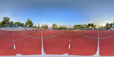 Multifunctional sports ground